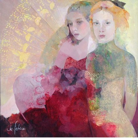 I adore Francoise de Felice's work. This now hangs in my home. It is so beautiful . . . I enjoy it everyday!