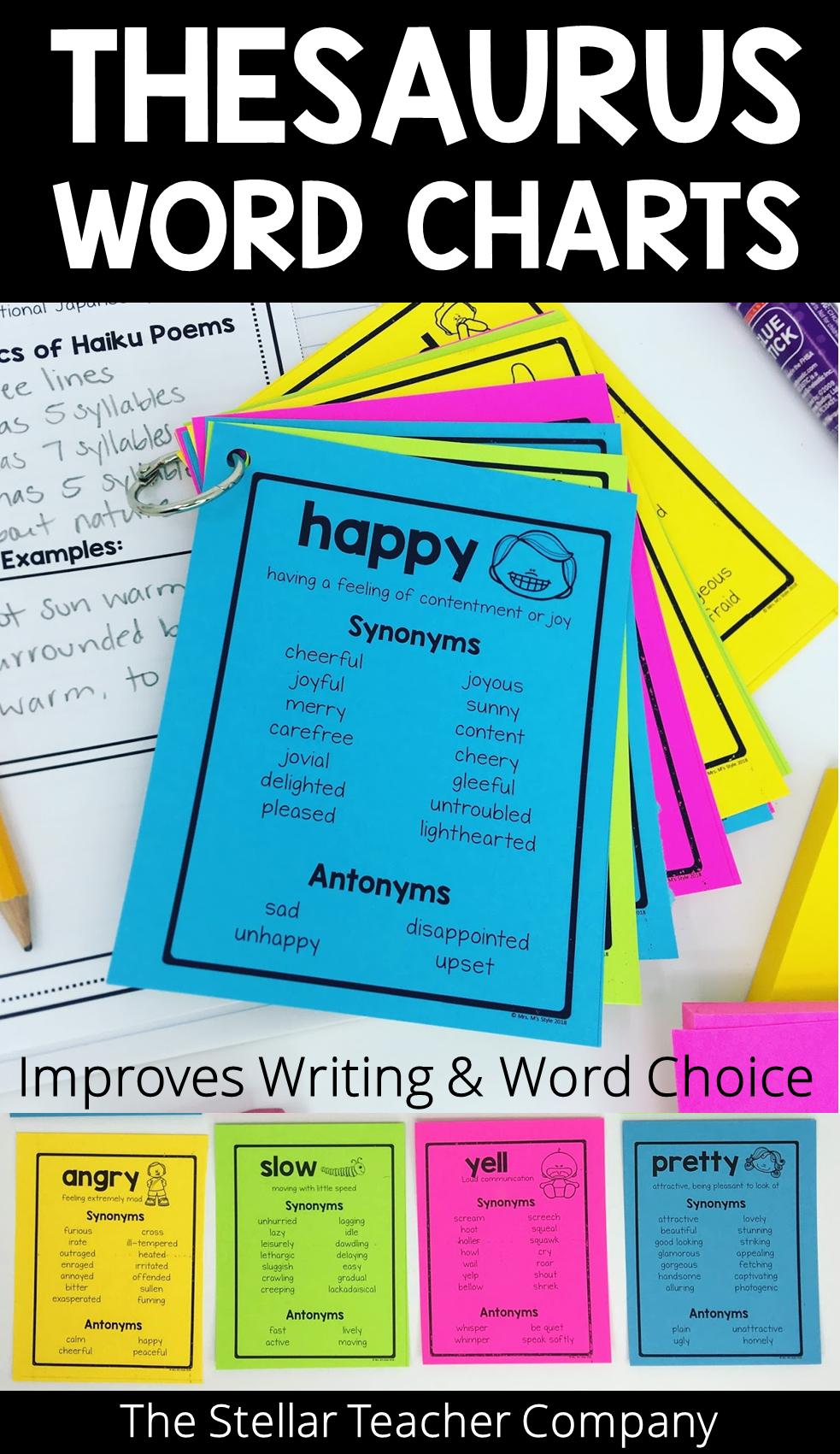 Thesaurus Word Charts Thesaurus Words Writing Words Teaching Upper Elementary