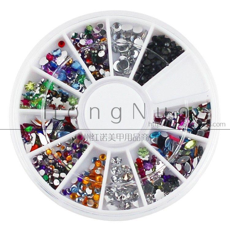 Nail Art Decoration Supplies Mixed Drill Nail Diy Acrylic Drilling