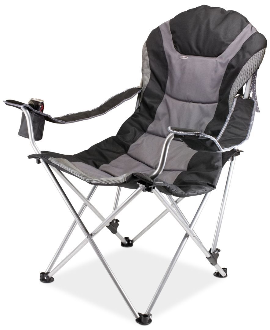 Picnic Time Patio Chair Reclining Camp Dark Red 3-Seating Positions Camping Gear