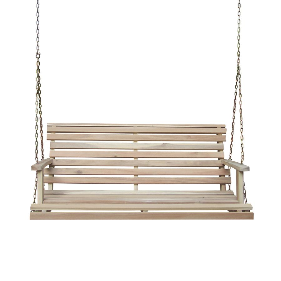 International concepts unfinished porch swing sw porch