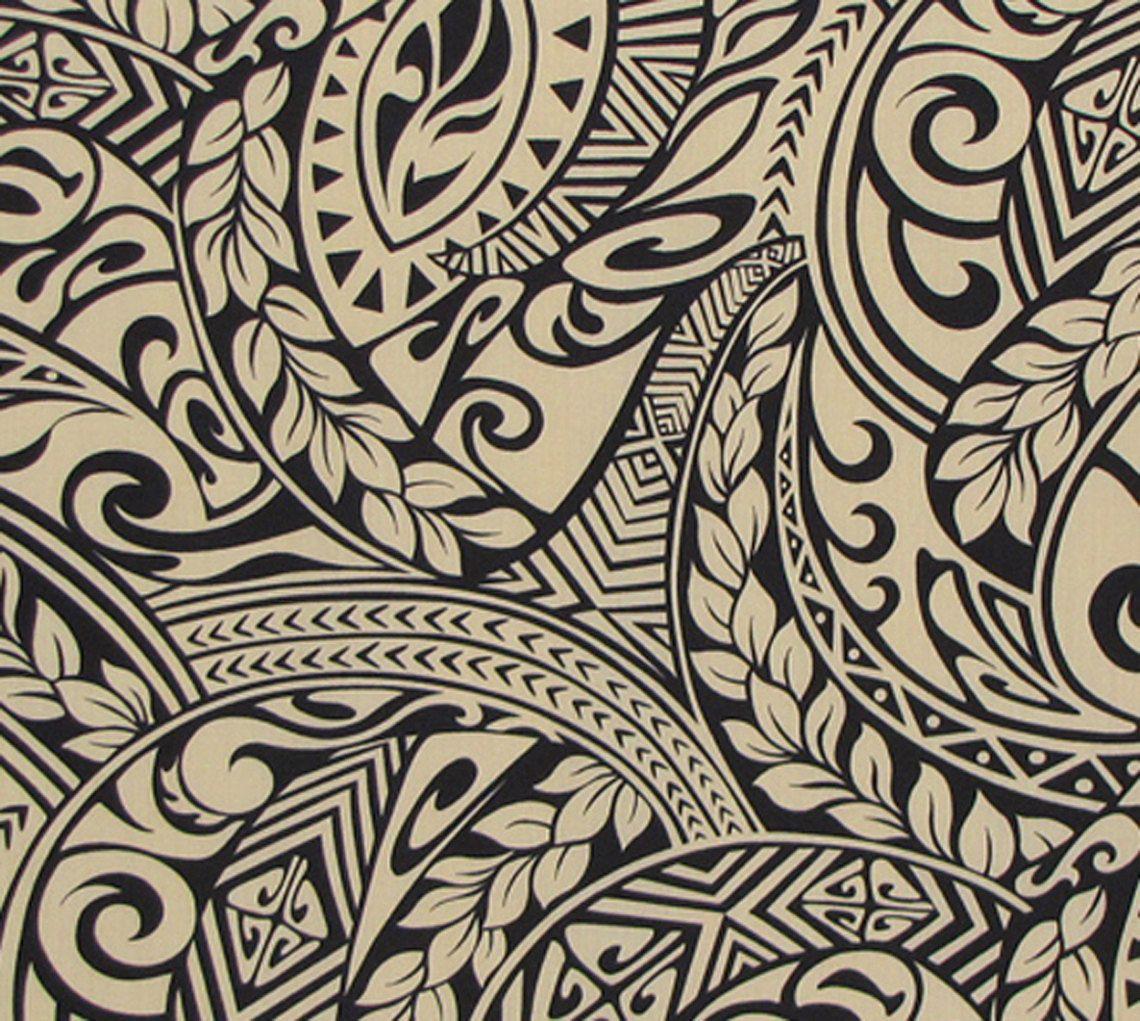 Polynesian Tribal Wallpaper: Polynesian Tattoo Tapa Fabric. Check It Out At