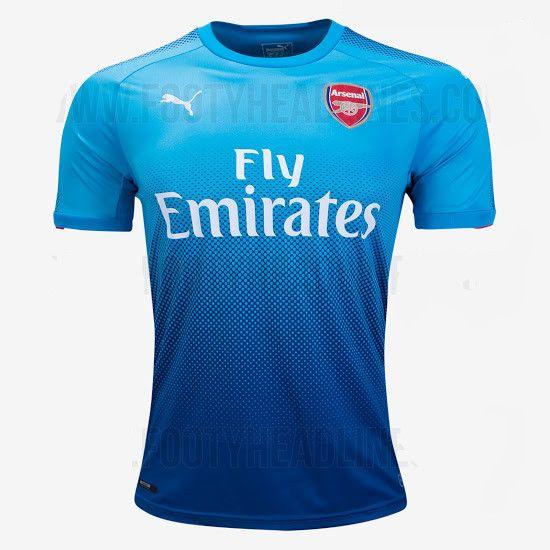camiseta segunda equipacion del Arsenal 2017-2018
