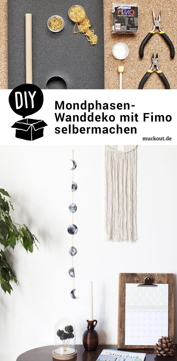 Photo of DIY idea: moon phase mobile made of modeling clay – muckout.de