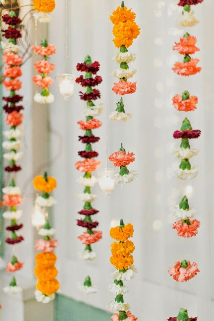 Ganesh chaturthi flowers may flower blog - Celebrations Decor An Indian Decor Blog Eye Candy For Diwali Floral Garlandflower