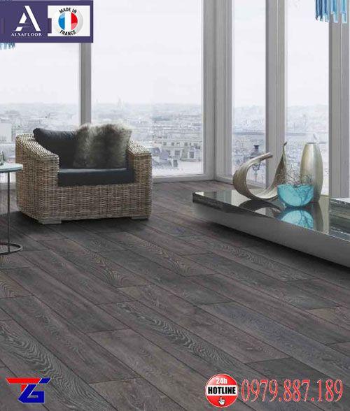 Sàn gỗ màu khói Alsafoor nhập khẩu từ Pháp