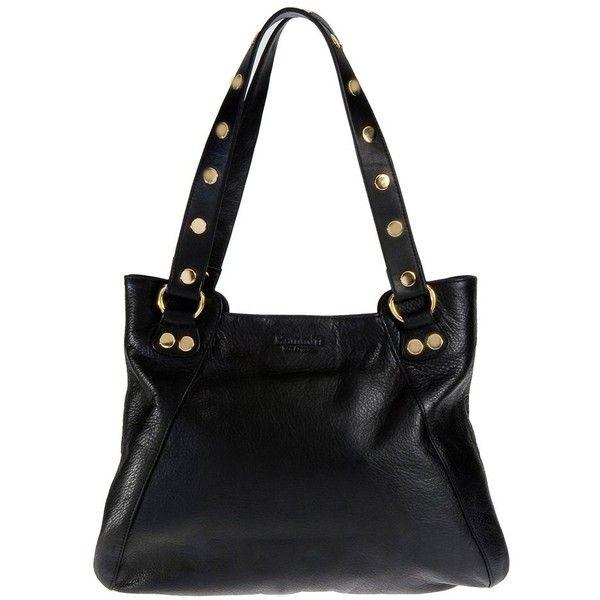 Hammitt Los Angeles Manhattan Ii Handbag In Black With Gold Hardware 905 Bam Liked On Polyvore Featuring Bags Handbags