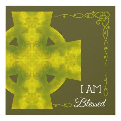 I AM Blessed   Jade Celtic Cross Mandala Panel Wall Art   Panel wall ...