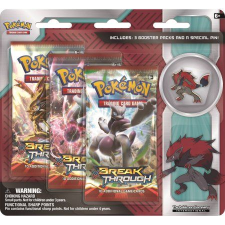 Pokemon Zoroark Collectors Pin 3 Pack Double Blister Pokemon