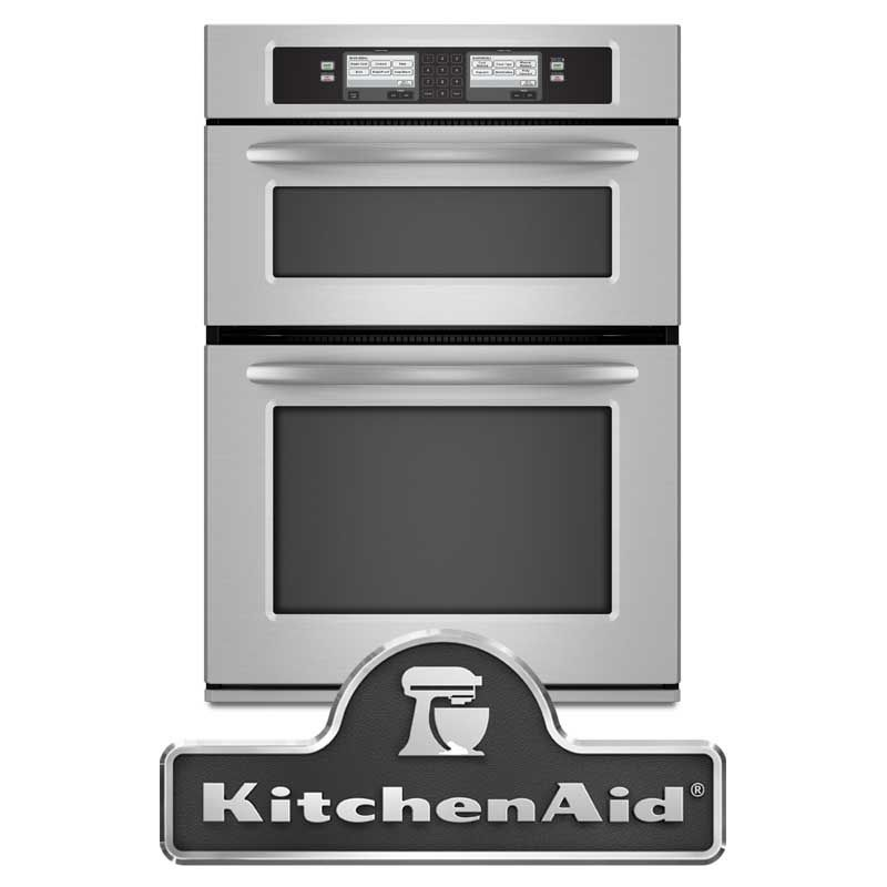 Kitchenaid Architect Series Ii Kehu309sss 30 Microwave Combination Double Wall Oven With 4 3 Cu