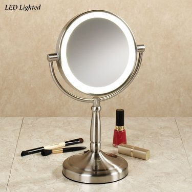 Cordless Led Lighted Magnifying Vanity Mirror Makeup Mirror With