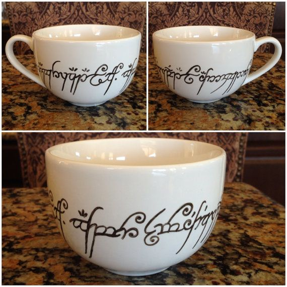 Lord of the Rings Cappuccino Mug #LOTR #oneringtorulethemall   I'd ...