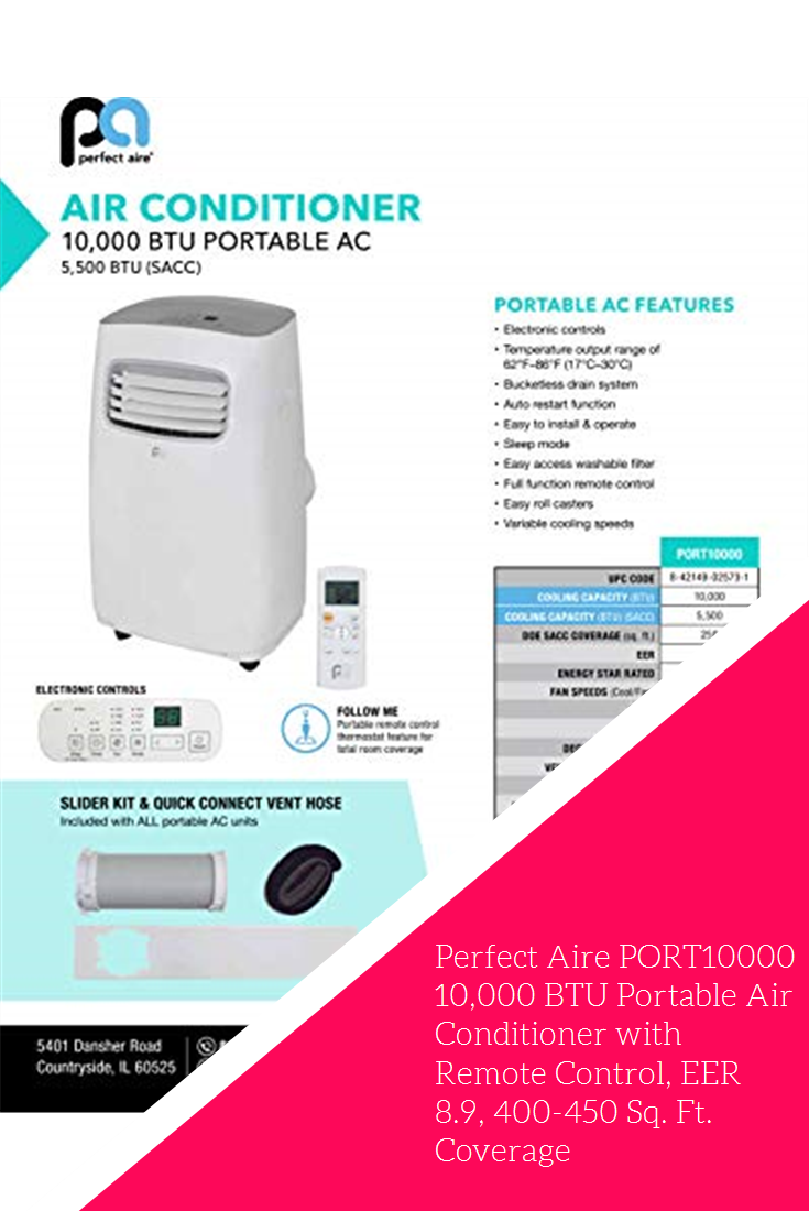 Perfect Aire PORT10000 10,000 BTU Portable Air Conditioner