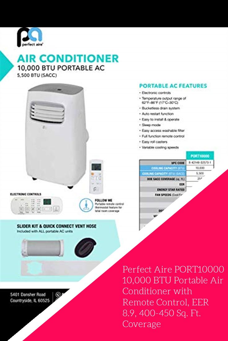 Perfect Aire PORT10000 10,000 BTU Portable Air Conditioner