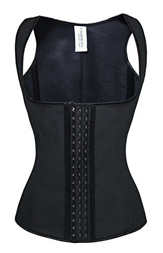 573ad778890 Charmian Womens Latex Underbust Waist Training Cincher Steel Boned Body  Shaper Corset Vest VestBlack XLarge -- Continue to the product at the image  link.