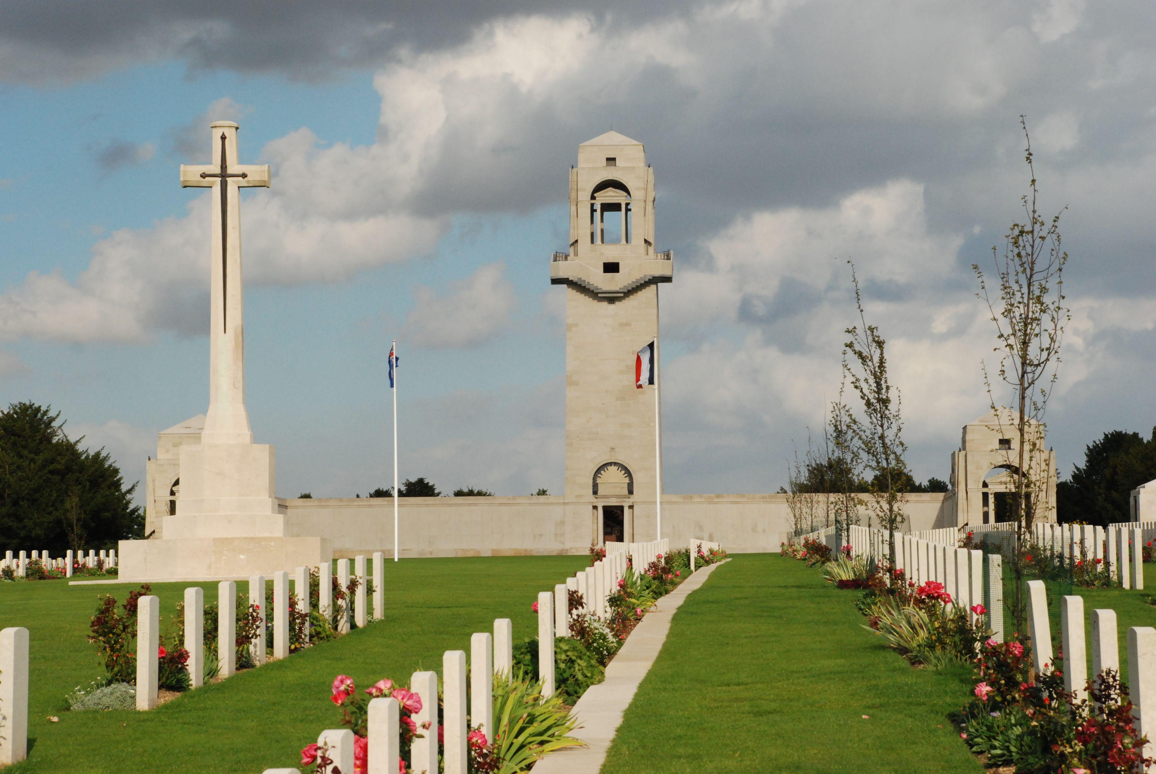 Australian National Memorial Villers Bretonneux Aquarelle