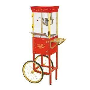 M/áquina de palomitas con forma de carrito antiguo