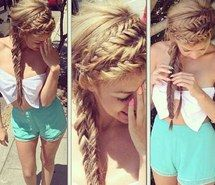 Inspiring picture bow tie, braids, heels, bralet, hair style. Resolution: 500x500. Find the picture to your taste!