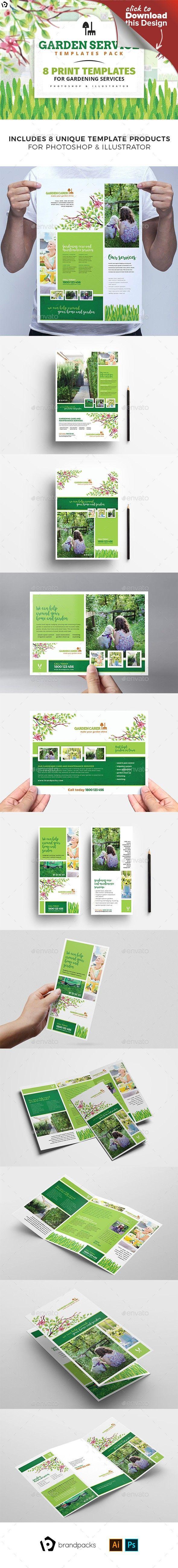 Gardener Templates Bundle Adobe Photoshop Adobe Illustrator And