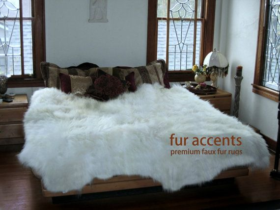 Thick Sheepskin Accent Rug Faux Fur Flokati Throw Polar Bear Classy Flokati Throw Blanket
