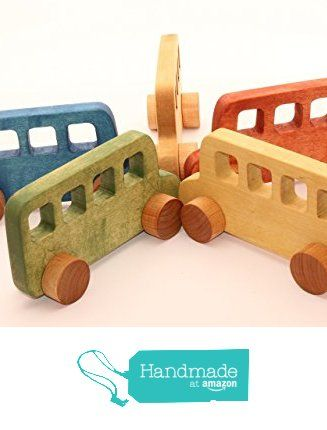 Wooden toy bus | Wood car | Wooden toys | Toy on wheels | Baby toys | Toddler toys | First birthday gift from WoofWoofWood https://www.amazon.com/dp/B01KMLJW4Q/ref=hnd_sw_r_pi_dp_x4-9xbY1FW0K4 #handmadeatamazon