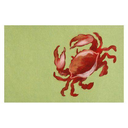 liora manne crab red indoor outdoor rug
