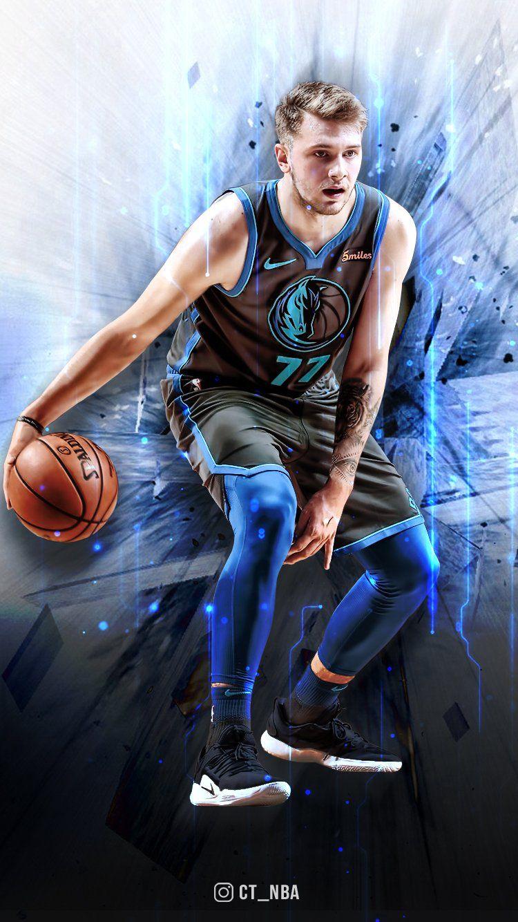 ใอดอลลลลล Basketball Players Nba Mavericks Basketball Nba Basketball Art