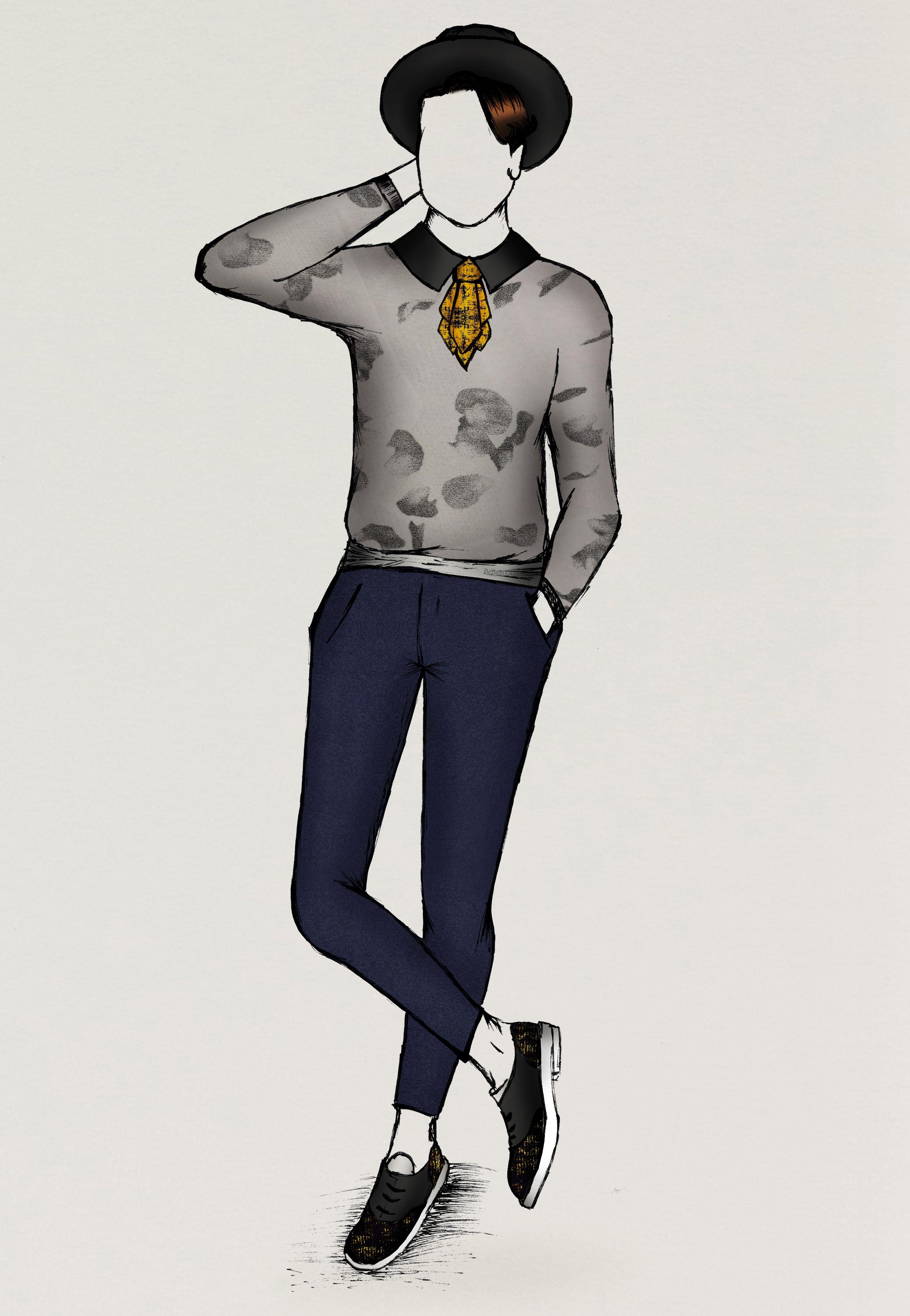 Disponible avec tous mes autres dessins sur fashion sketch mode - Dessin de tous ...