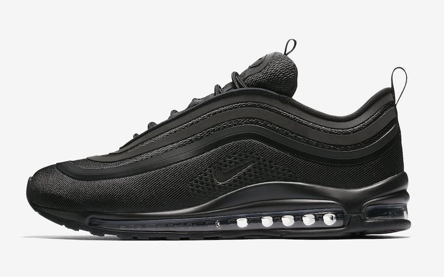2017 Fall Winter New NIKE Air Max 97 Ultra 17 Triple Black