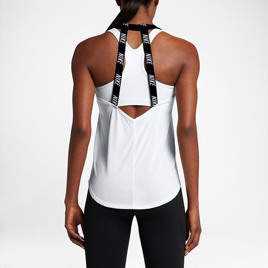 Nike Breathe Women's Training Tank Tops Black/White