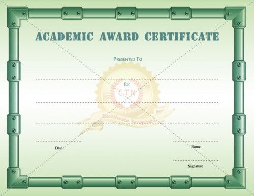award templates for students Microsoft Word Award Certificates - award of excellence certificate template