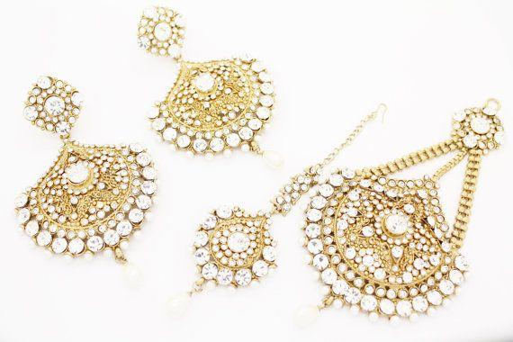Haarschmuck Indian Gold Silver Tikka Tika Headpiece Head Jewellery