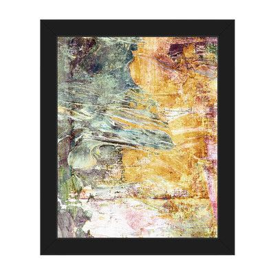 """Click Wall Art 'Vision of Summer Days' Framed Painting Print Size: 10"""" H x 8"""" W x 1"""" D, Frame Color: Black"""