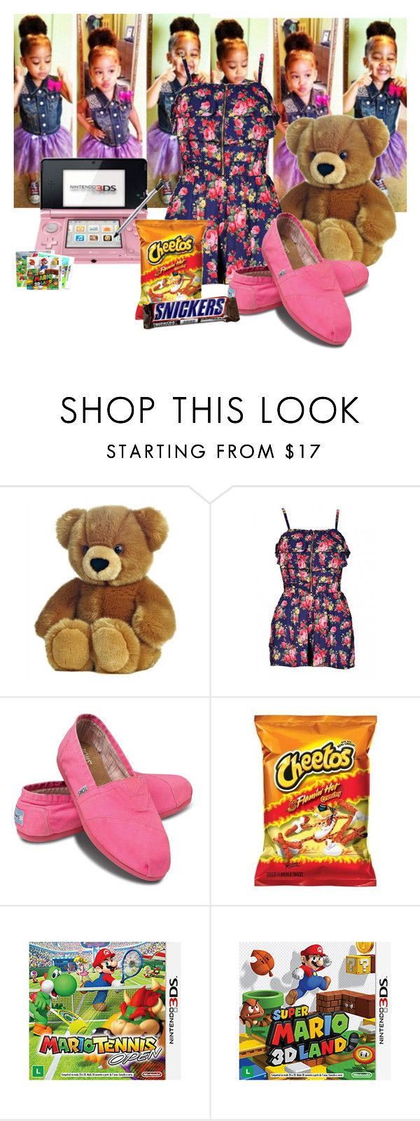 """Miss Thang!"" by collection-creator ❤ liked on Polyvore featuring AX Paris, TOMS and Nintendo"