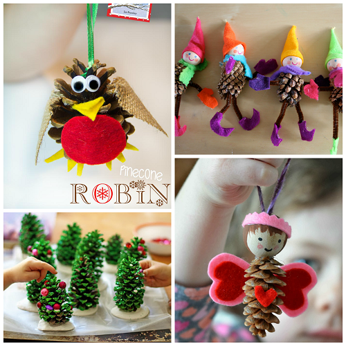 Pine cone crafts for kids to make crafty morning party for Pine cone christmas ornaments crafts