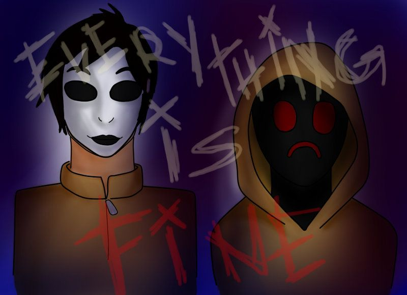 Masky and hoodie marble hornets