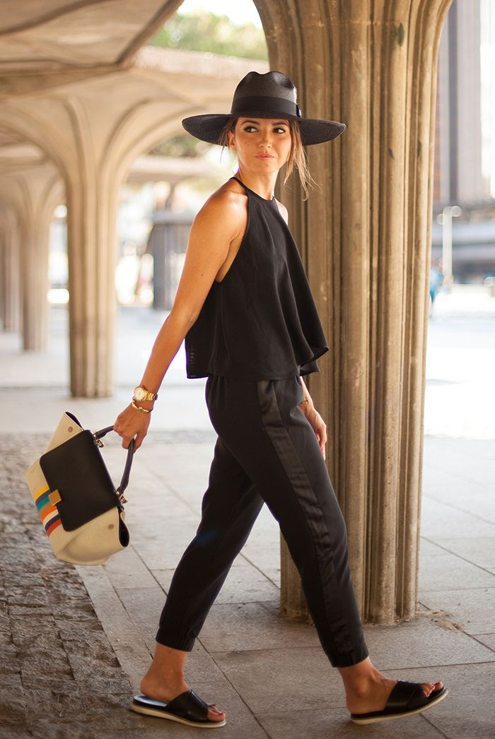 fcdb229965e9 spring   summer - street chic style - street style - summer outfits -  casual outfits - all black - beach outfits - getaway outfits - travel  outfits - black ...