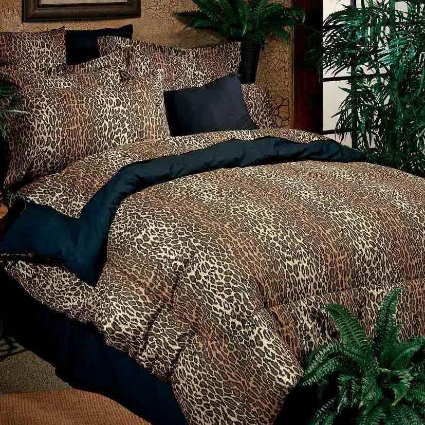 leopard print | Kimlor Mills Exotic Leopard Print Comforter & Sheet ...
