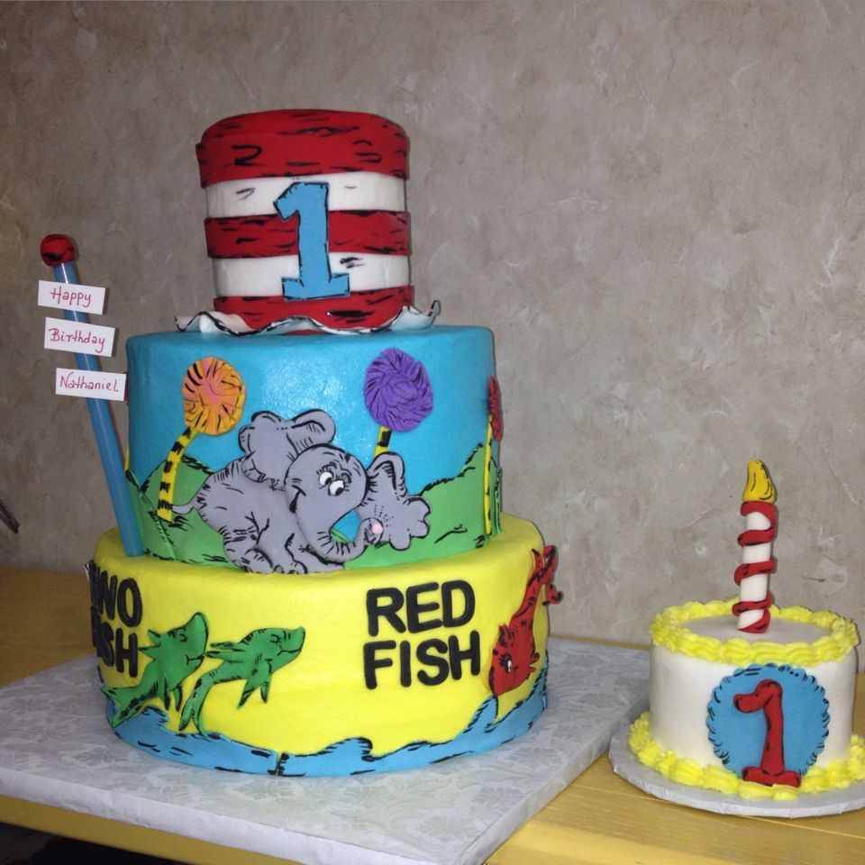 Cat in The Hat birthday and ash cake One fish Two fish Red fish