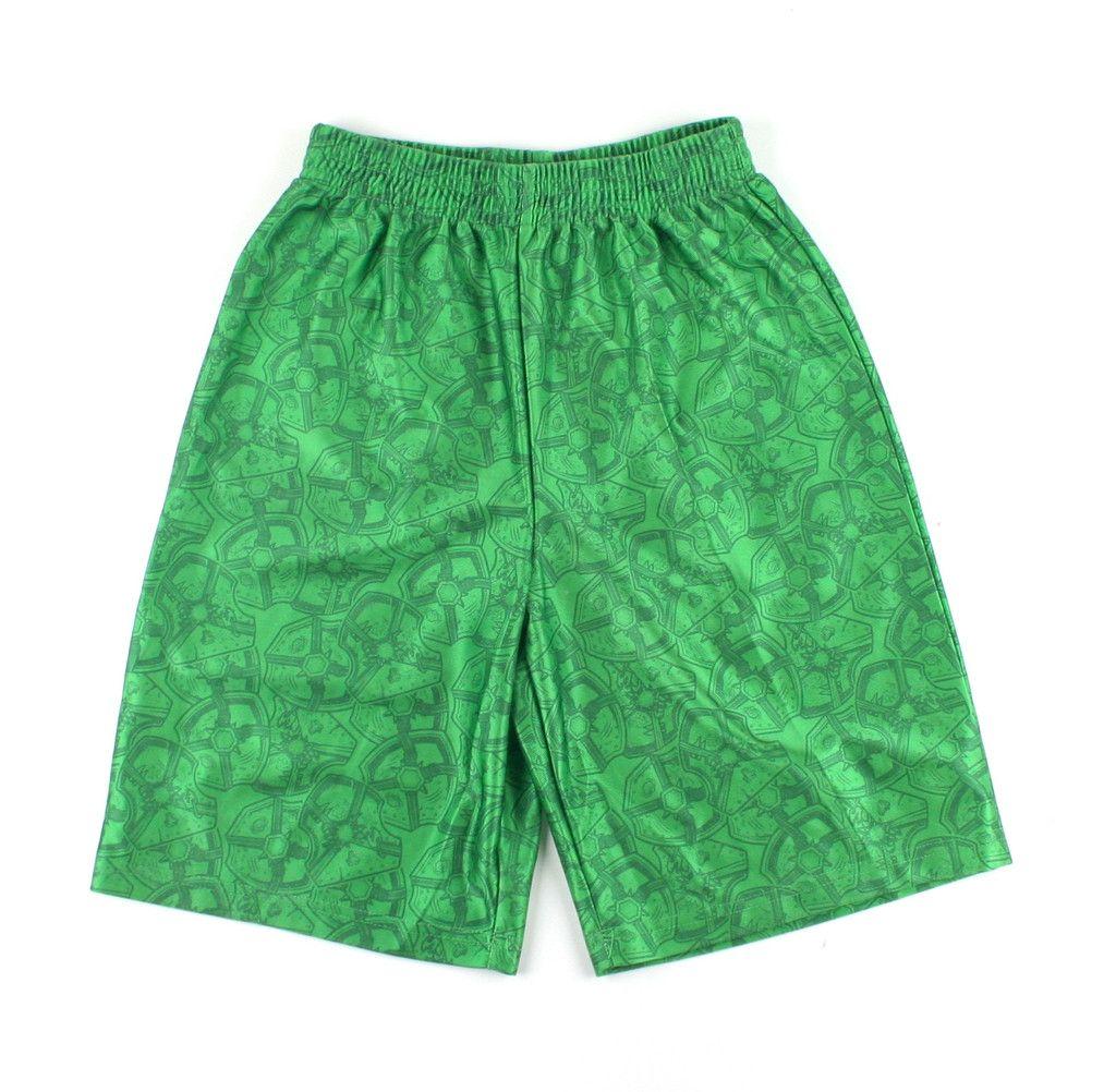 Lego clothing, green shorts, Chima shorts, shorts for boys