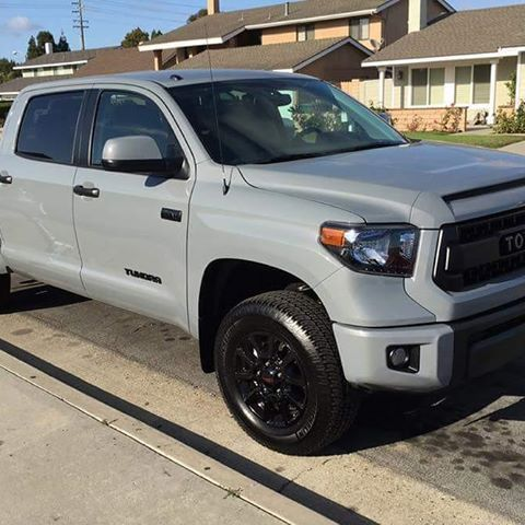 new tundra trd pro in new color code cement coches pinterest coches y camionetas. Black Bedroom Furniture Sets. Home Design Ideas