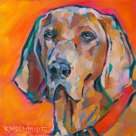 Karen Mathison Schmidt, whose animal paintings are just beyond beyond....