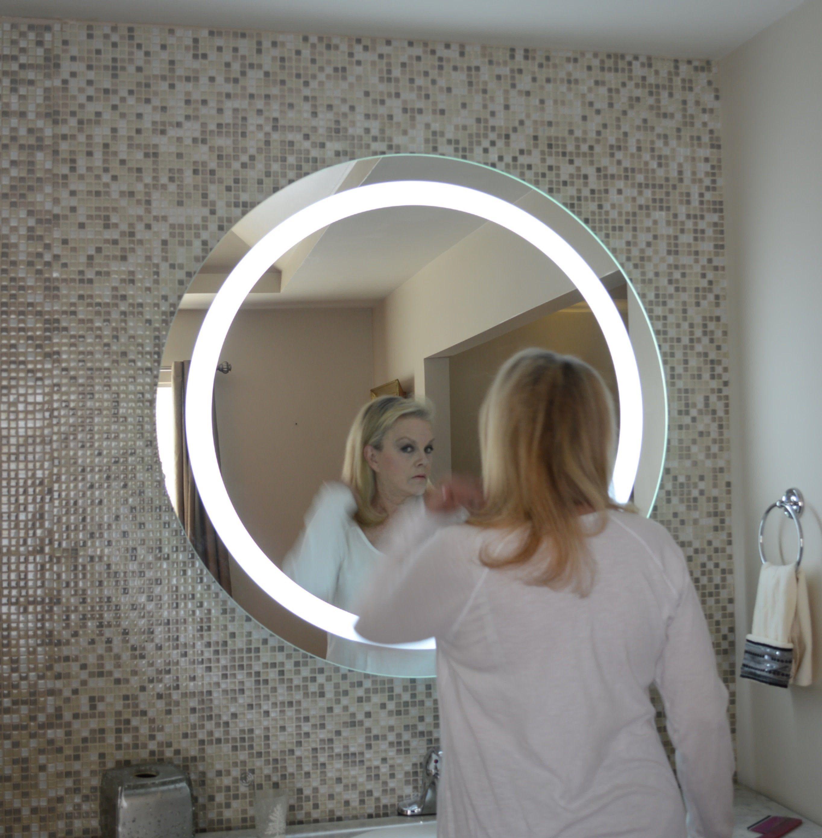 """FrontLighted LED Bathroom Vanity Mirror 48"""" Wide x 48"""