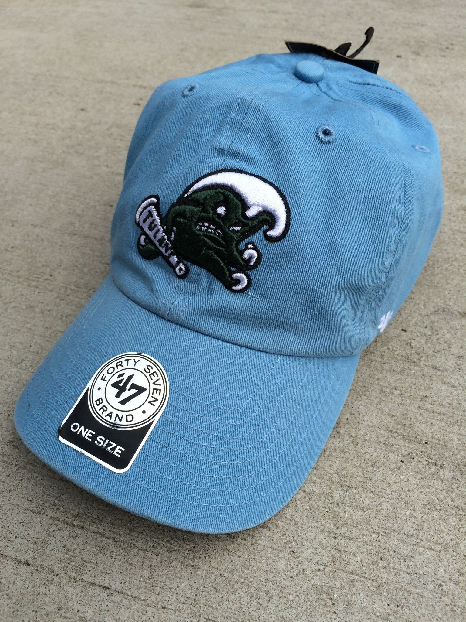 01104181674 Tulane Angry Wave Hat - Blue