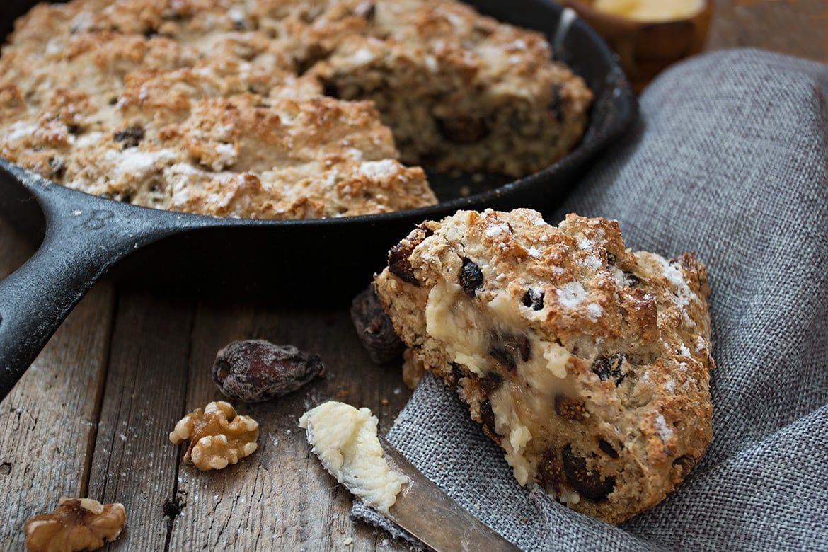 Fig and Walnut Soda Bread with Honey Butter | Recipe ...