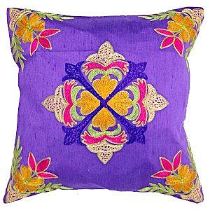 Dupion multi resham in purple