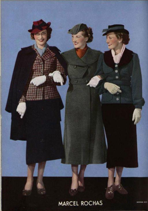 marcel rochas september 1935 source l officiel de la mode mode femme mode ann e 30. Black Bedroom Furniture Sets. Home Design Ideas