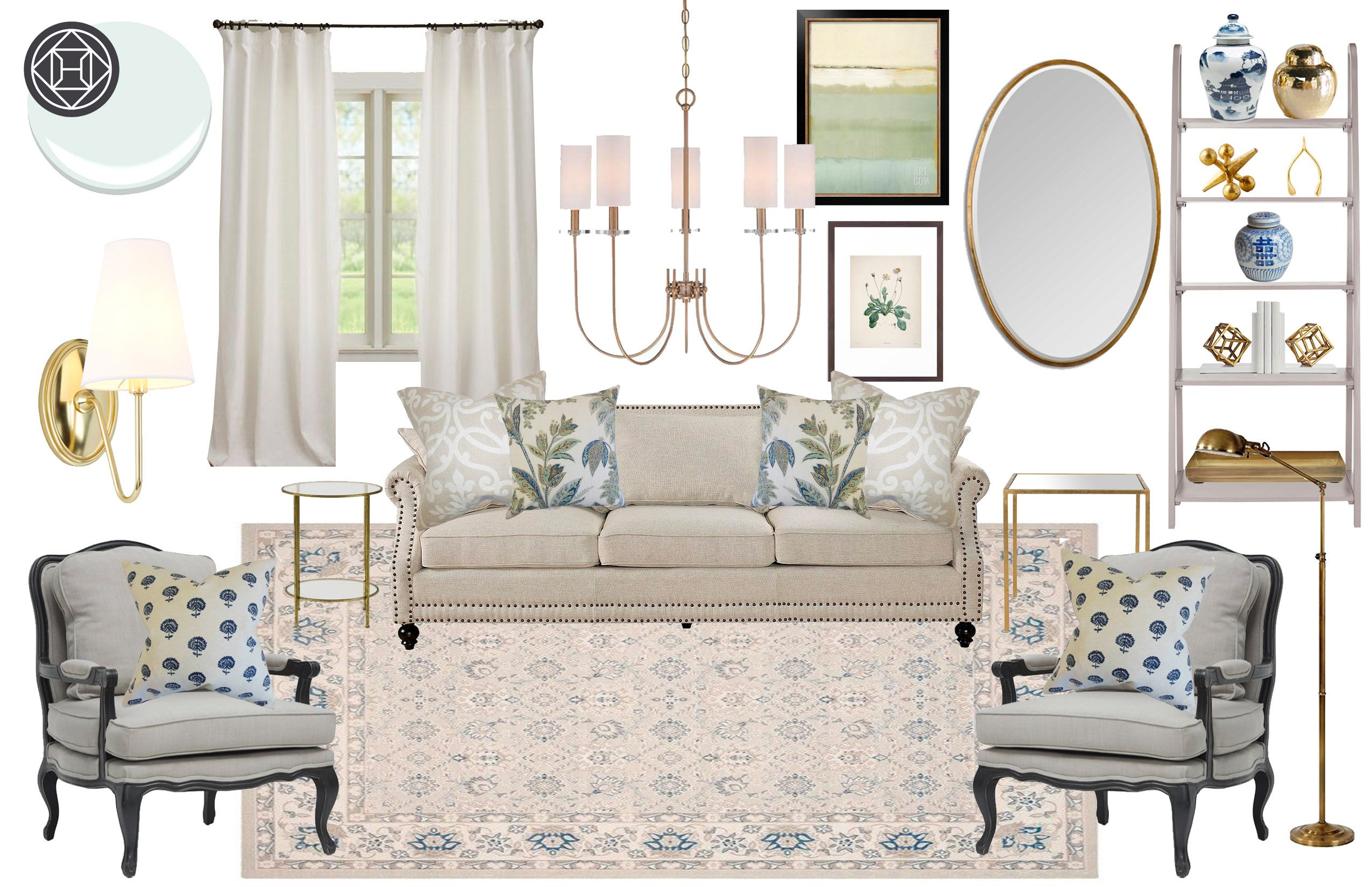 Living Room Design By Havenly Interior