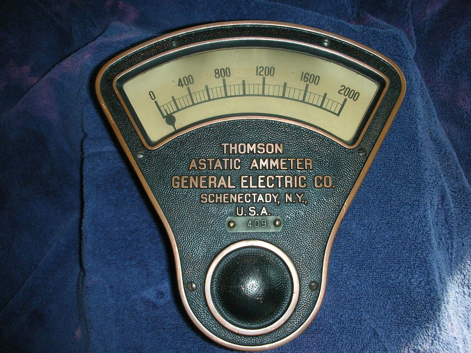 Antique Thomson Astatic Ammeter General Electric Co General Electric Electric Co Antiques
