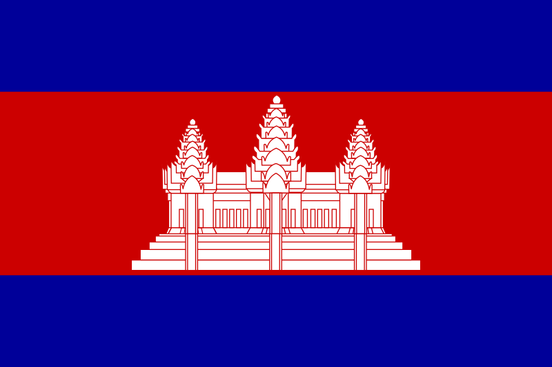 Flag Of Cambodia Bendera Kamboja Lambang Negara